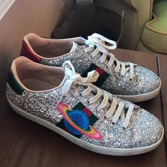 Gucci Shoes | Gucci Glitter Planet